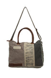 Myra Bag Vintage Up-cycled Canvas Messenger S-0711