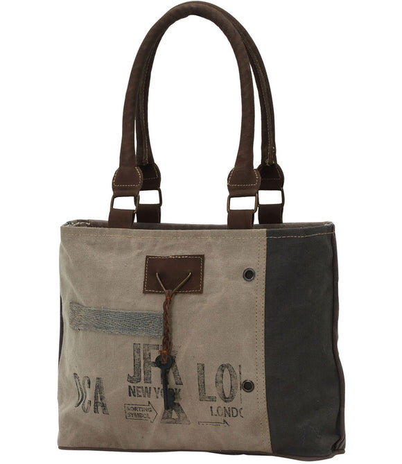 Myra Bag New York Up-cycled Canvas Hand Bag S-0713
