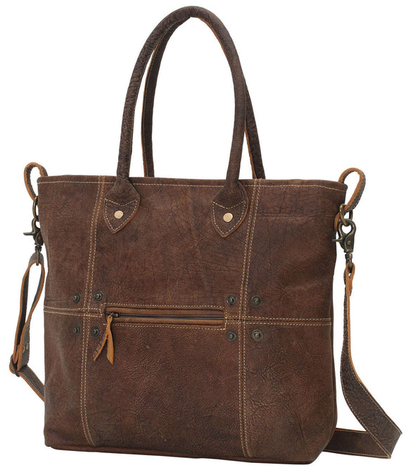 Myra Bag Button & Stitches Genuine Leather Shoulder Bag S-0727