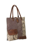 Myra Bag Floral Side Up-cycled Canvas Tote S-0733