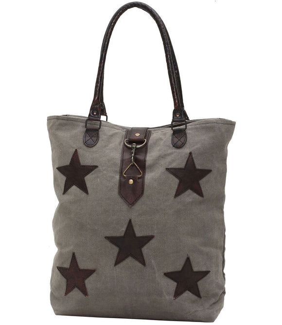 Myra Bag Stardom Up-cycled Canvas Tote S-0805