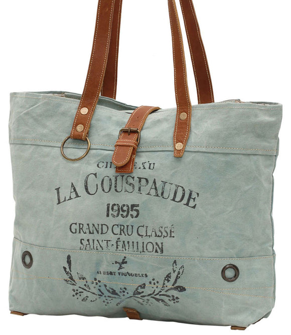 Myra Bag La Couspaude Up-cycled Canvas Tote S-0814