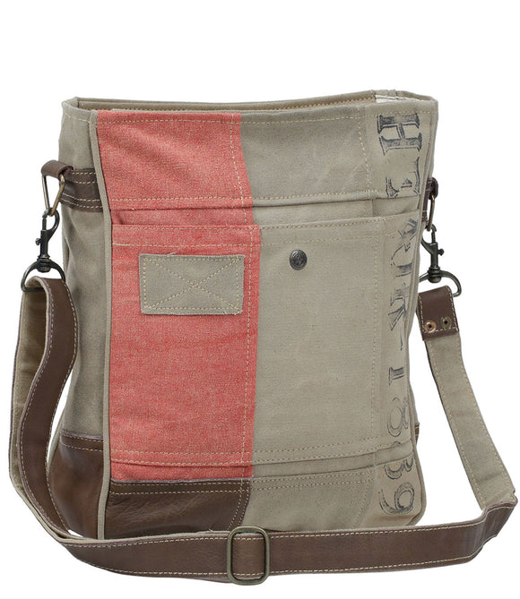 Myra Bag 1889 Up-cycled Canvas Shoulder Bag S-0910