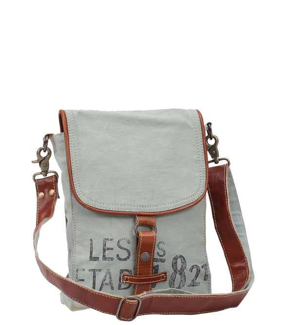 Myra Bag 821 Up-cycled Canvas Crossbody S-0914