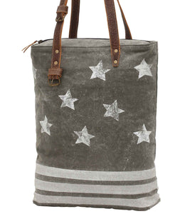 Myra Bag Freedom Star Up-cycled Canvas Tote S-0932