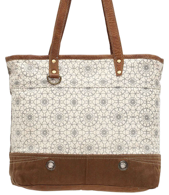 Myra Bag Ferris Wheel Up-cycled Canvas Tote S-0941