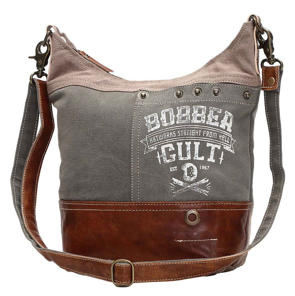 Myra Bag Bobber Up-cycled Canvas Shoulder Bag S-0949