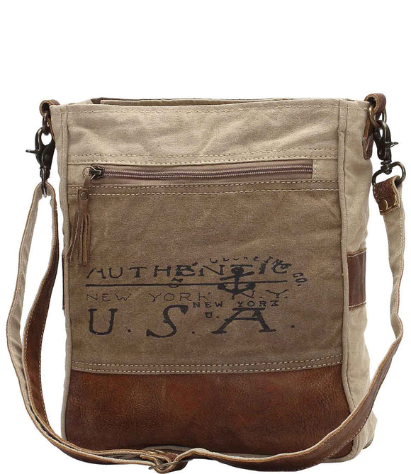 Myra Bag USA Up-cycled Canvas Shoulder Bag S-0953
