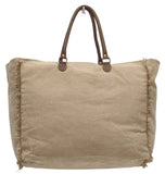 Myra Bag American Bicycle Large Up-cycled Canvas Weekender S-0958