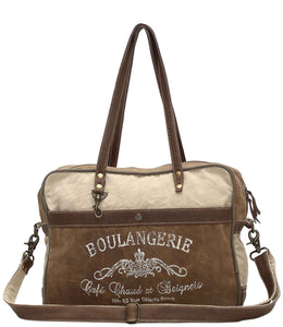 Myra Bag Boulangerie Up-cycled Canvas Messenger S-0964