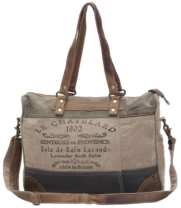 Myra Bag 1802 Up-cycled Canvas Messenger S-0966