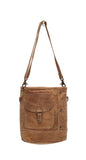 Myra Bag Flap Pocket Genuine Leather Shoulder Bag S-0969