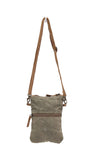 Myra Bag Chevron Up-cycled Canvas Crossbody S-1041