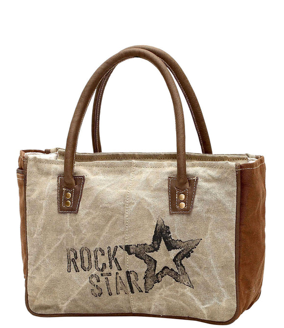 Myra Bag Rock Star Up-cycled Canvas Hand Bag S-1045