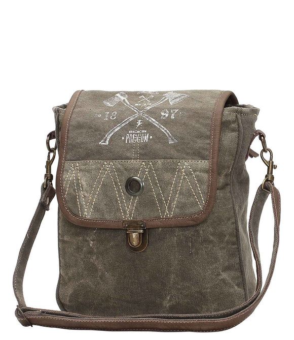 Myra Bag 1897 Up-cycled Canvas Crossbody S-1050