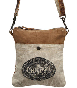 Myra Bag The Chicago Upcycled Canvas Crossbody Bag S-0888