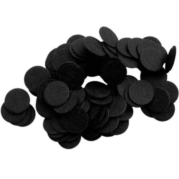 Black Stiff Felt Circles (1 to 5 inch)