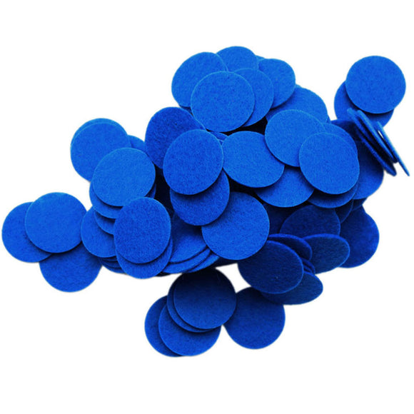 Blue Stiff Felt Circles (1 to 5 inch)