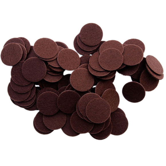 Brown Stiff Felt Circles (1 to 5 inch)