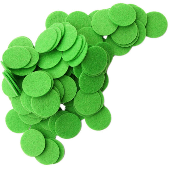 Green Stiff Felt Circles (1 to 5 inch)