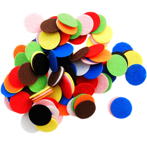 Mixed Color Assortment Stiff Felt Circles (1 to 5 inch)