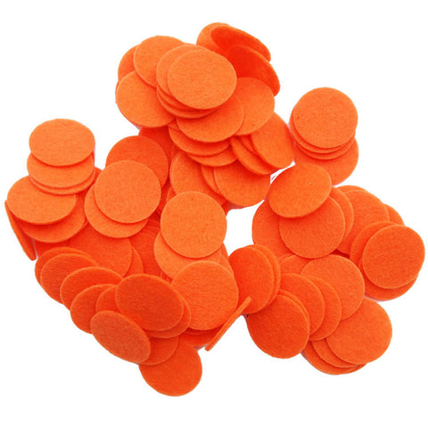 100 pc Orange 1 inch Felt Circles