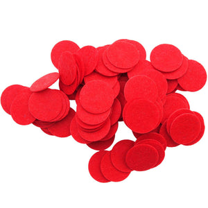 Red Stiff Felt Circles (1 to 5 inch)