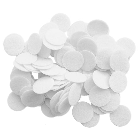 100 pc White 1 inch Felt Circles