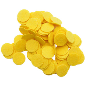 Yellow Stiff Felt Circles (1 to 5 inch)