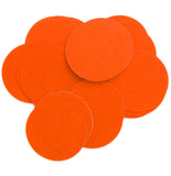 Orange Stiff Felt Circles (1 to 5 inch)