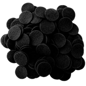 Black Felt Circles (3/4 to 5 inch)