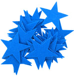 Blue Felt Star Stickers (1.5 to 3inch)
