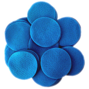 Blue Felt Circles (3/4 to 5 inch)