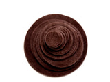 Brown Felt Circles (3/4 to 5 inch)
