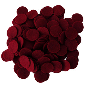 Cardinal Red Felt Circles (3/4 to 5 inch)