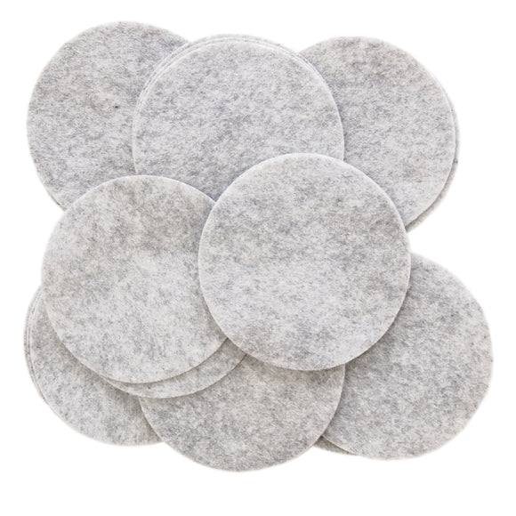 Charcoal Gray Felt Circles (3/4 to 5 inch)
