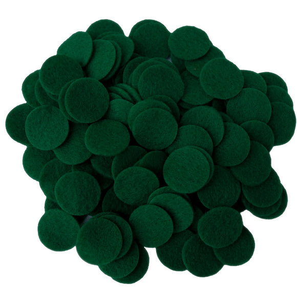 Dark Green Felt Circles (3/4 to 5 inch)