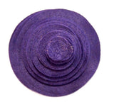 Dark Purple Felt Circles (3/4 to 5 inch)