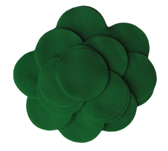 CUSTOM ORDER - 1,000 Dark Green 2 inch Felt Circles