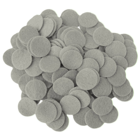 Gray Felt Circles (3/4 to 5 inch)