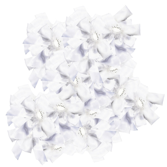 White Princess Bows (Set of 100)