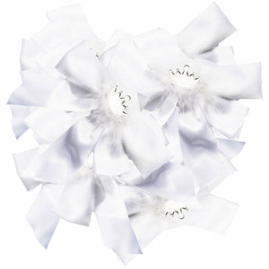 White Princess Bows (Set of 12)