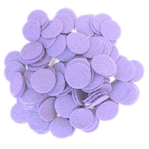 Lavender Felt Circles (3/4 to 5 inch)