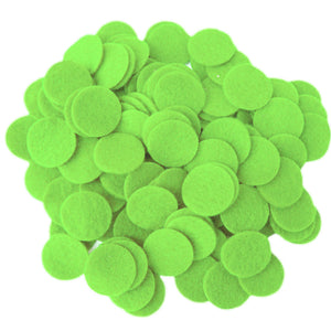 Light Green Felt Circles (3/4 to 5 inch)