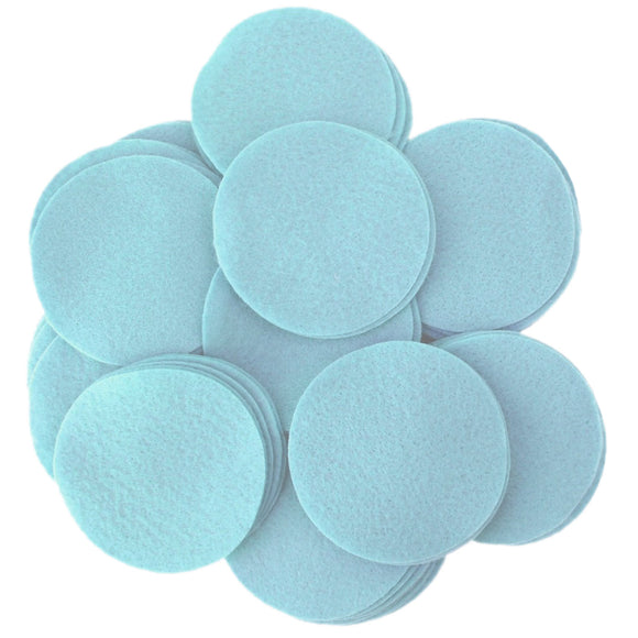 Light Blue Felt Circles (3/4 to 5 inch)