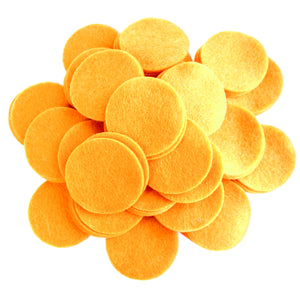 Mac n' Cheese Orange Felt Circles (3/4 to 5 inch)