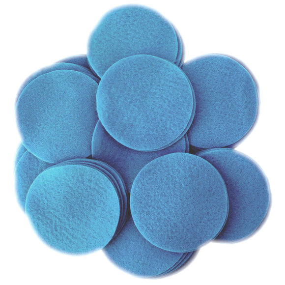 Militia Blue Felt Circles (3/4 to 5 inch)