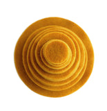 Mustard Yellow Felt Circles (3/4 to 5 inch)