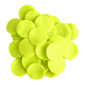Neon Green Felt Circles (3/4 to 5 inch)