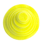 Neon Yellow Felt Circles (3/4 to 5 inch)